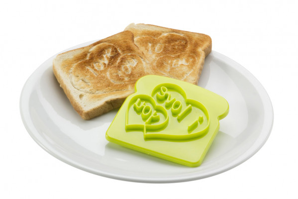 Toast-Stempel Formen I love you Toastform 2er Set