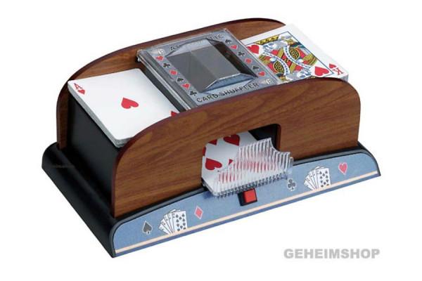 Elektrischer Kartenmischer Holz – Mischmaschine für Karten