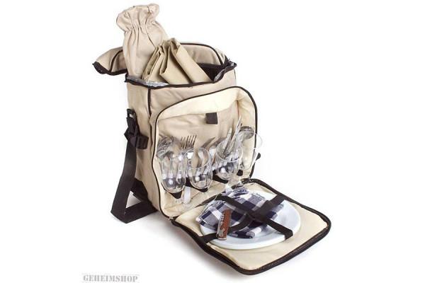 Picknickkorb Picknick Rucksack Isotasche für 4 Personen