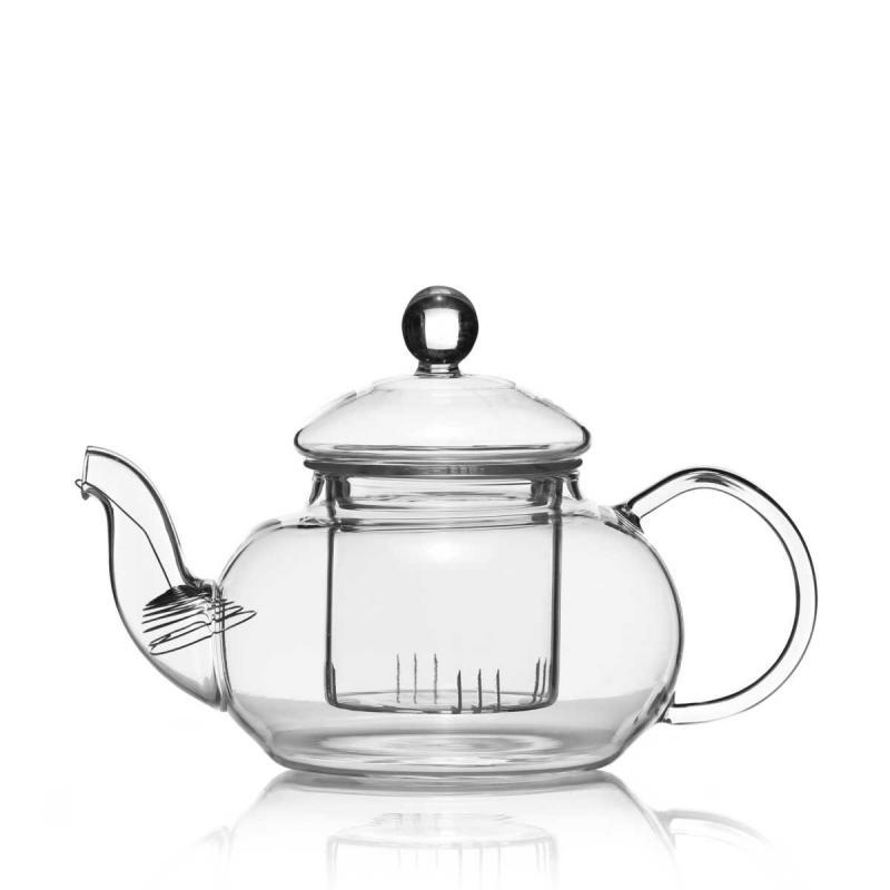 Glas Teekanne mit Filter