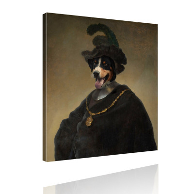 Kunstdruck - Gemälde mit Twist - Hauptmann von Hund