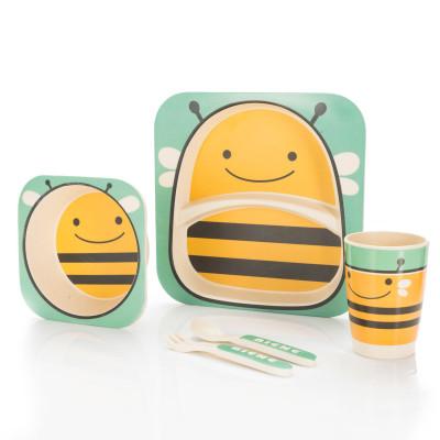 Kindergeschirr aus Bambus - Bambusgeschirr für Kinder - Biene