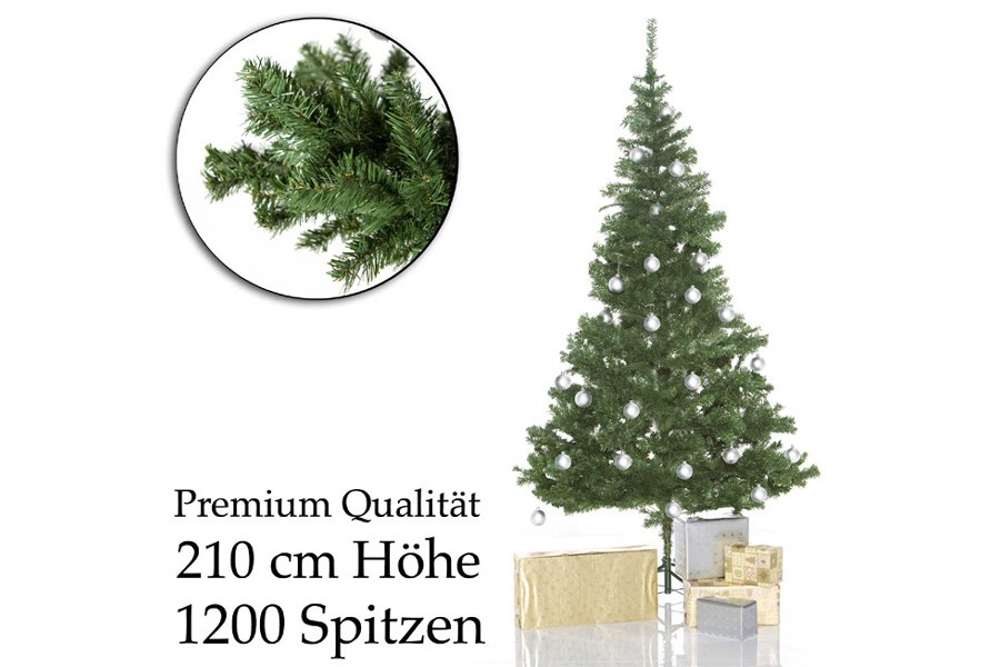 k nstlicher weihnachtsbaum tannenbaum 210 cm g nstig kaufen. Black Bedroom Furniture Sets. Home Design Ideas