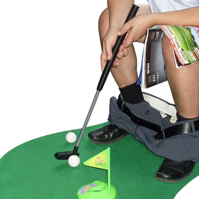 Mini WC Golf Set fürs Klo