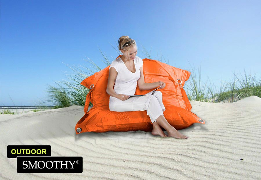 smoothy sitzsack outdoor supreme in funky orange. Black Bedroom Furniture Sets. Home Design Ideas