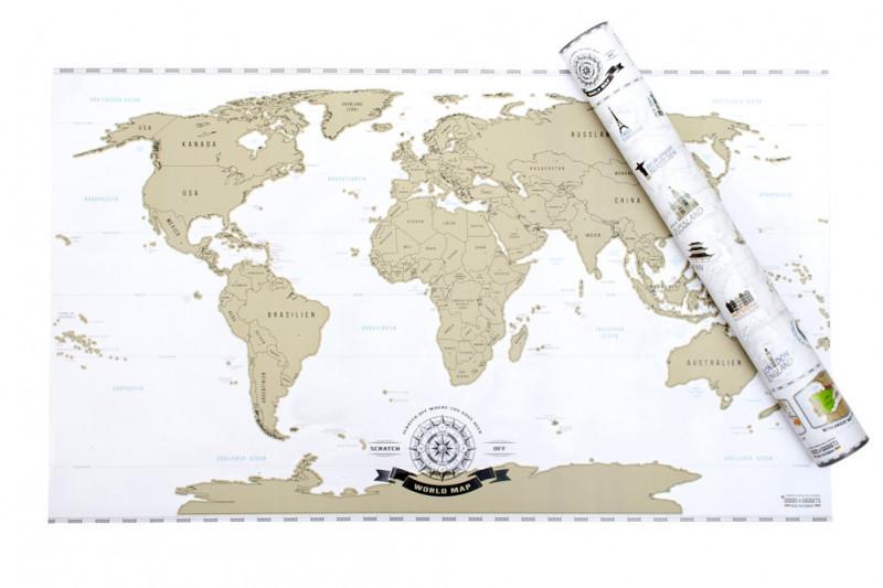 Weltkarte - Länderkarte zum Freirubbeln - Geheimshop.de