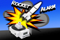 Fliegender Raketen-Wecker