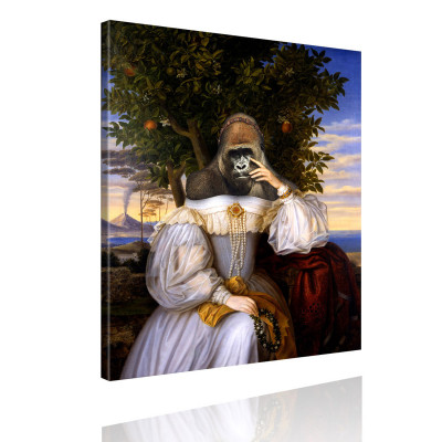 Kunstdruck - Klassisches Gemälde mit Twist - Prinzessin Gorilla