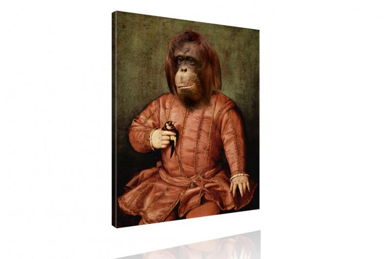Tierportrait Orang-Utan Affe Gemälde