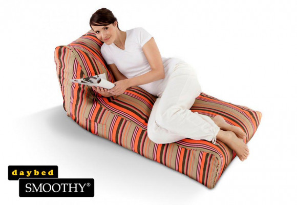 Smoothy Sitzsack Lounge Daybed Red Stripes