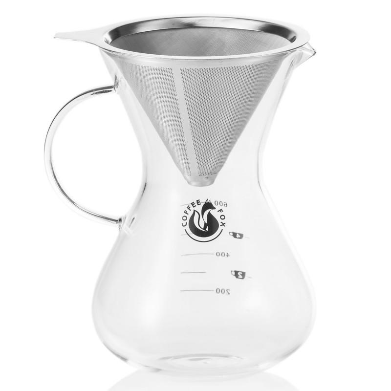 Kaffeebereiter mit Dauerfilter aus Edelstahl