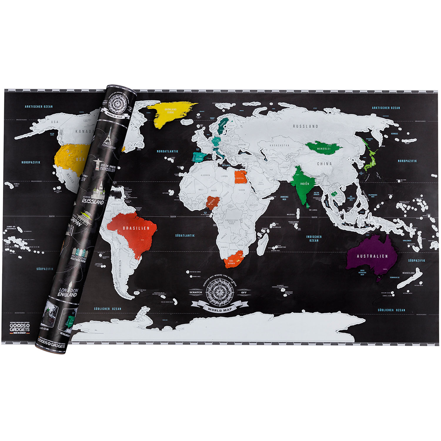 scrape off world map deluxe luxus limited edition. Black Bedroom Furniture Sets. Home Design Ideas