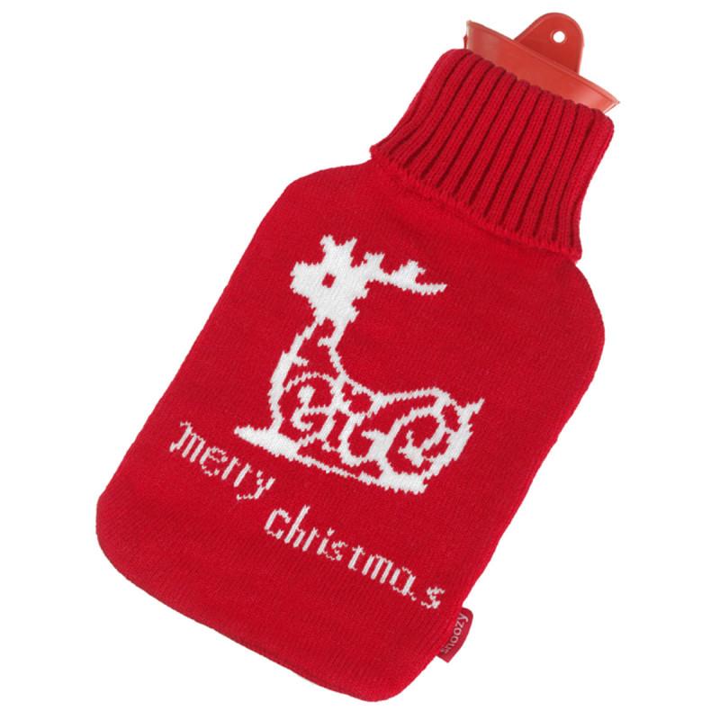 Wärmflasche mit Merry Christmas Rentier
