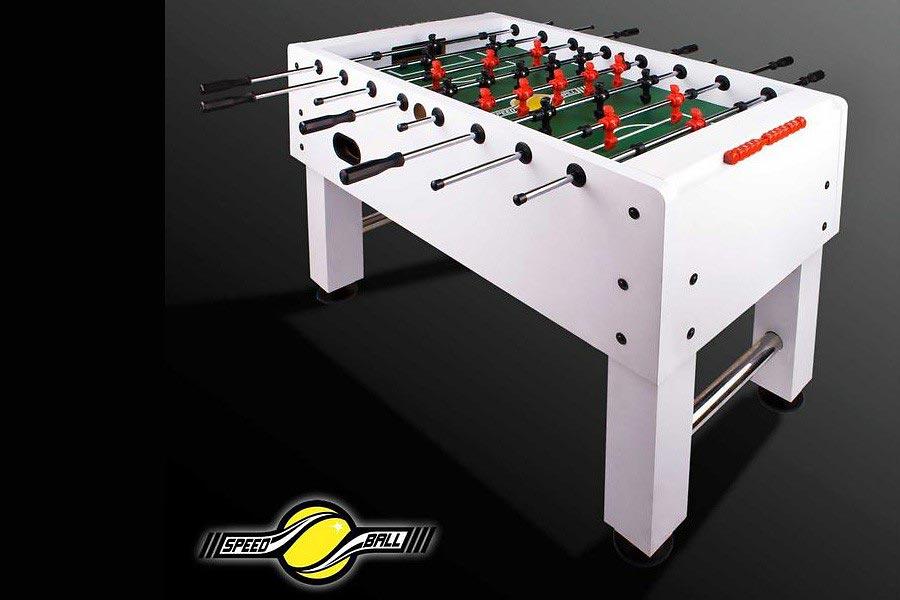 profi tischkicker speedball kickertisch wei premium kicker. Black Bedroom Furniture Sets. Home Design Ideas