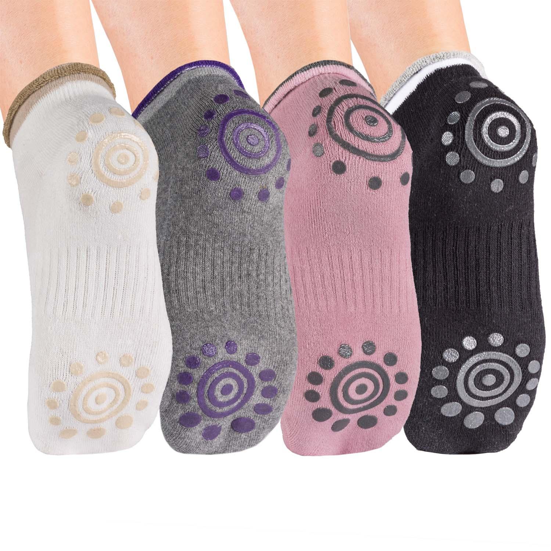 Yoga Socken Body & Mind rutschfeste Yogasocken 4er Pack