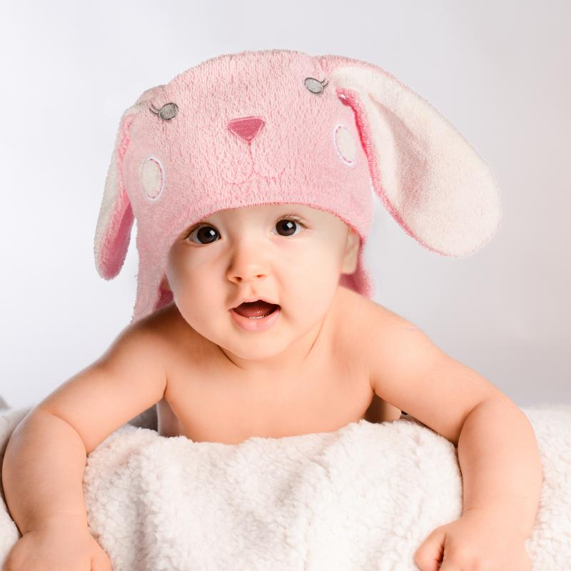 Baby Kapuzenhandtuch Hase
