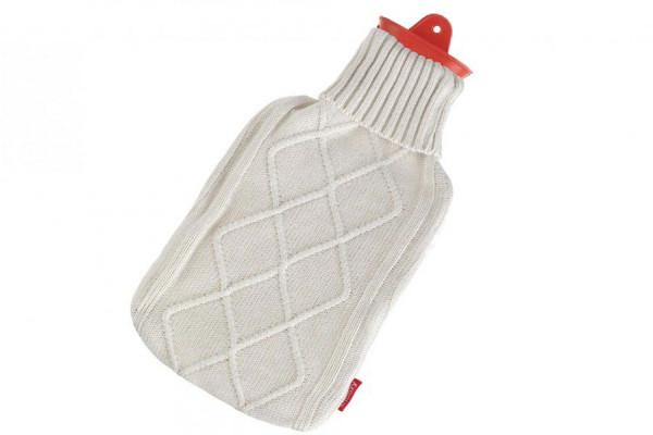 Wärmflasche von Snoozy 2L + Strickmuster Wärmflaschen Bezug