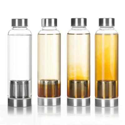 Trinkflasche 600ml - Wasserflasche mit Edelstahl Filter
