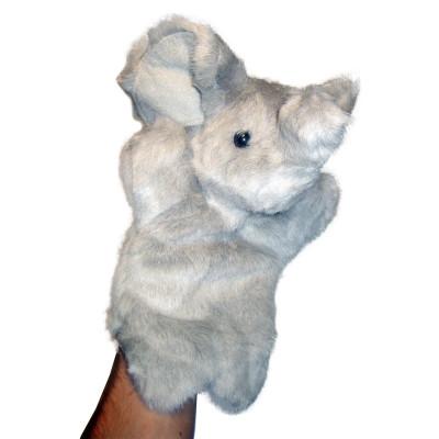 Handpuppe - Handspielpuppe aus Plüsch - Elefant