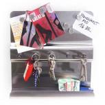 Schlüsselbrett - Schlüsselboard aus Edelstahl  - Geheimshop.de