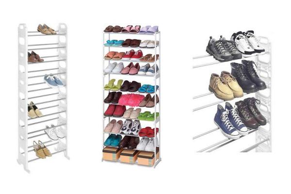 Schuhregal XXL für 30 Paar Schuhe – sehr platzsparend