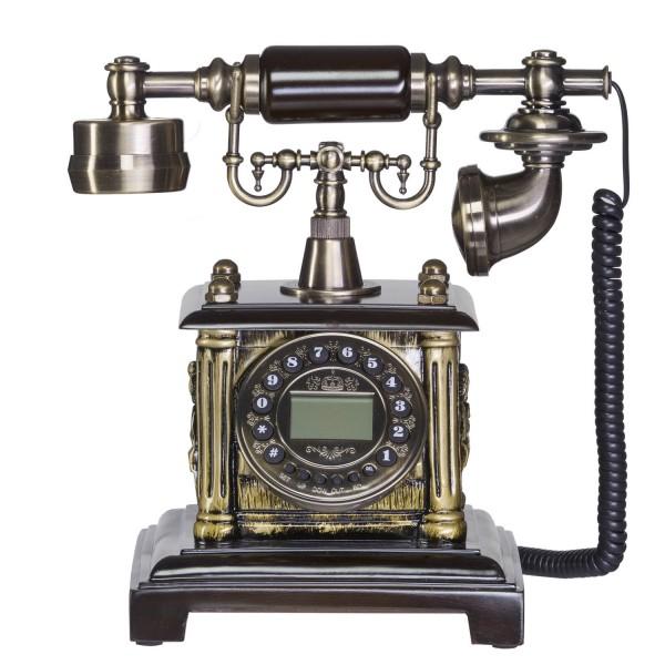 antikes nostalgie telefon mit kurbel und w hlscheibe aus. Black Bedroom Furniture Sets. Home Design Ideas