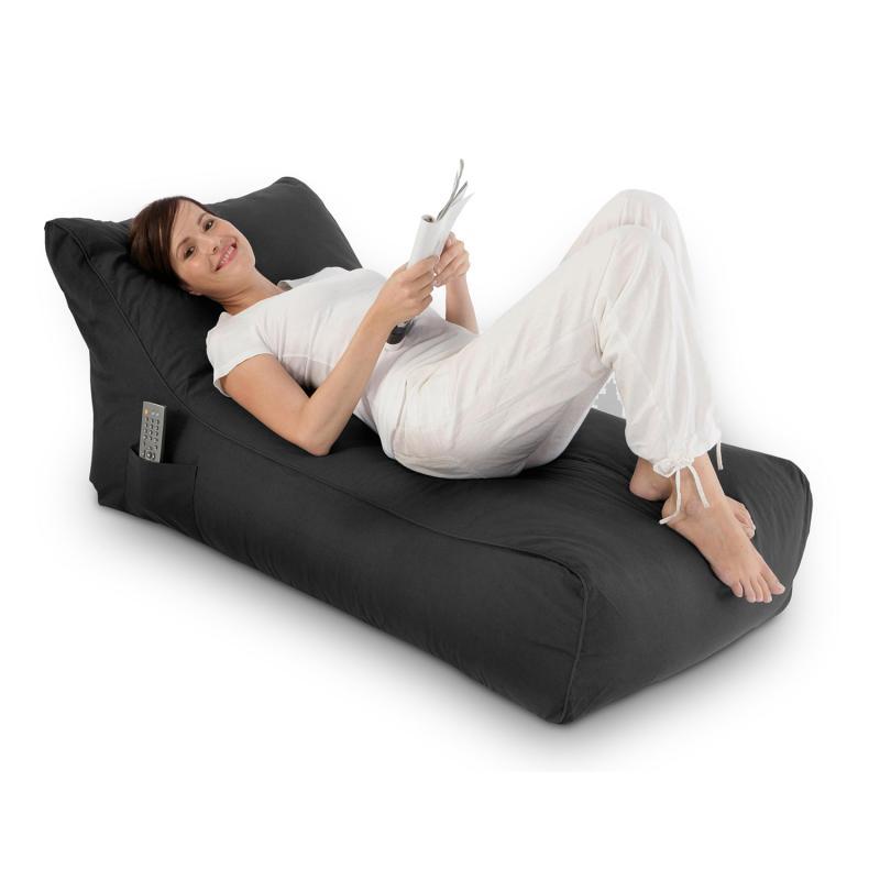 Sitzsack Lounge Daybed schwarz