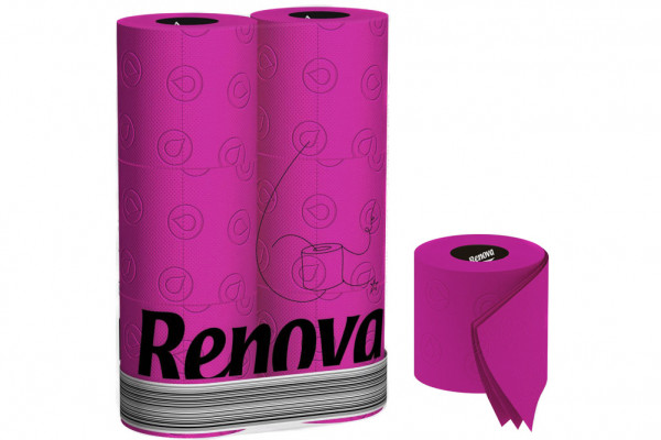 Rosa Toilettenpapier » 6 Rollen Renova Klopapier Fuchsia