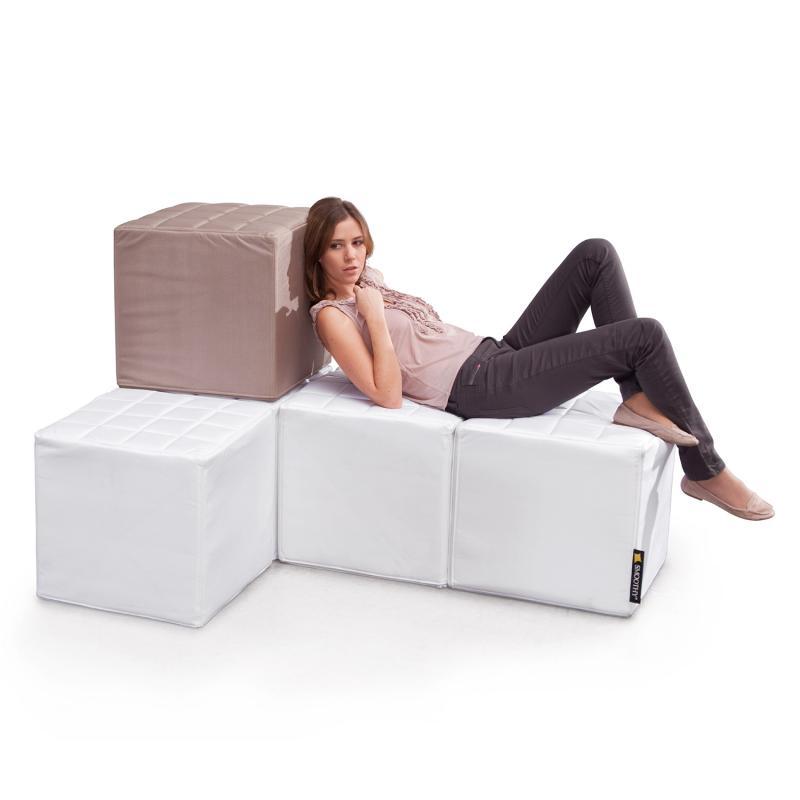 Cube Sitzwürfel weiß
