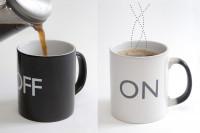 On/Off Tasse Temperaturempfindliche Kaffeetasse mit Farbwechsel