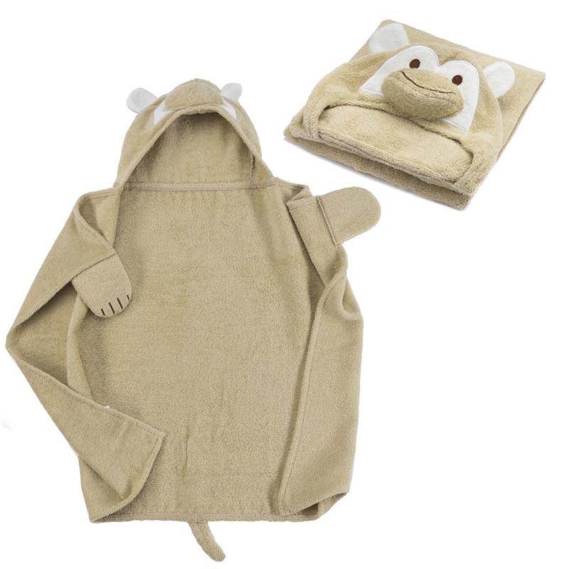 kapuzenhandtuch baby handtuch mit kapuze affe. Black Bedroom Furniture Sets. Home Design Ideas