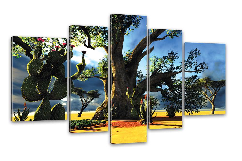 kunstdruck w sten landschaft 5 teilige bilder 170x100cm. Black Bedroom Furniture Sets. Home Design Ideas