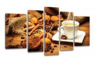 Kunstdruck Kaffee Coffee Shop Cafe Leinwand 110x60cm