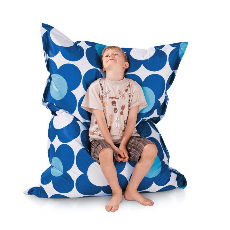 Sitzsack Junior Nightflower Blau