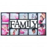 Bilderrahmen - Fotorahmen Family für 10 Fotos - Geheimshop.de