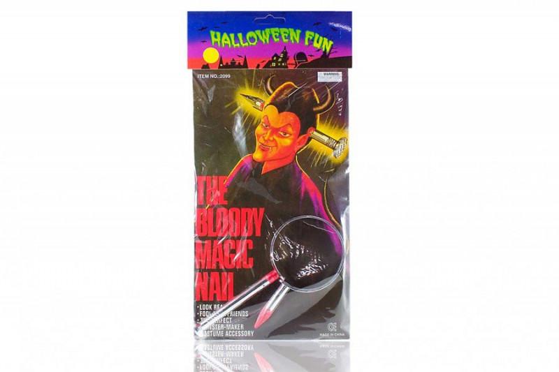 Nagel im Kopf Bloody magic head nail Halloween Verkleidung