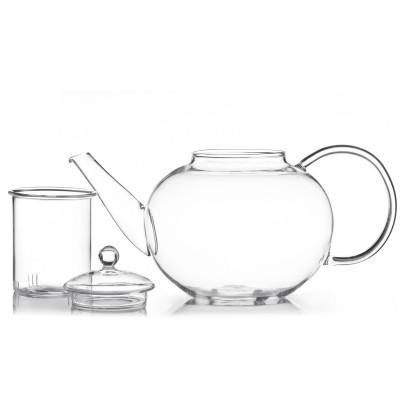 Teekanne mit Glasfilter für losen Tee 1500ml von Dimono