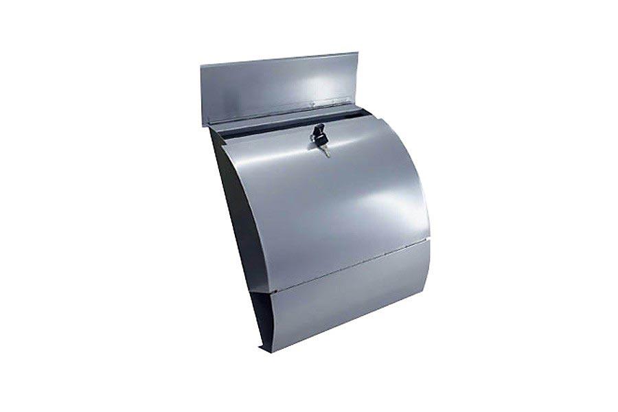 edelstahl briefkasten stahl mailbox mit zeitungsfach. Black Bedroom Furniture Sets. Home Design Ideas