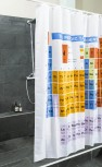 Duschvorhang  - bedruckte Duschvorhänge - Periodensystem Design
