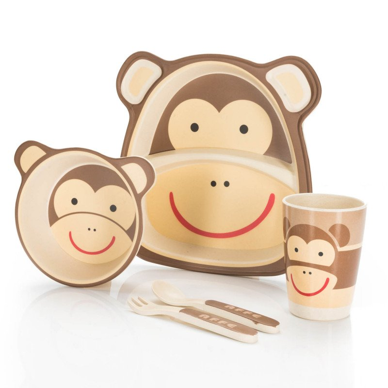 Kindergeschirr Praktisches Kindergeschirr Set Monkey
