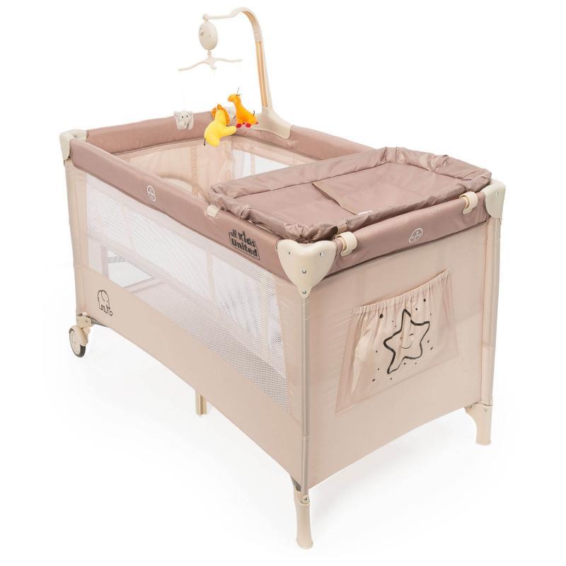 all Kids United Kinderbett Deluxe mit Reisematratze und Wickelauflage
