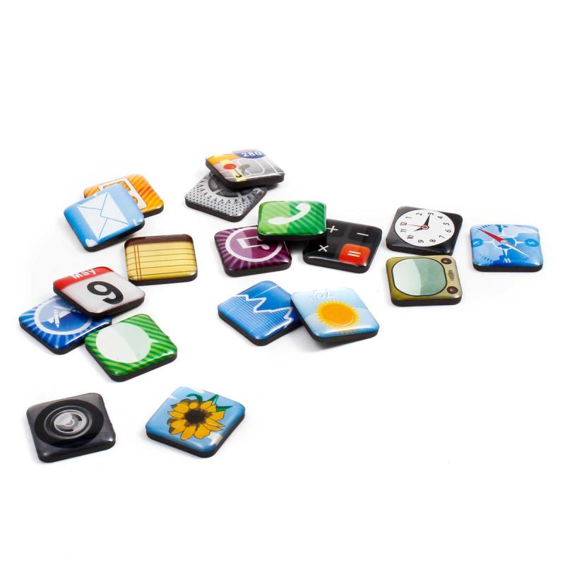 Kühlschrank Magnetpins im App-Design