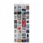 Fotovorhang Bildervorhang 40 Taschen 10x15cm für 80 Fotos