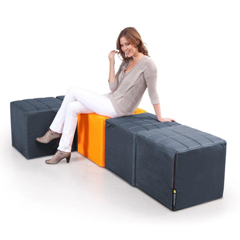 Cube Sitzwürfel grau