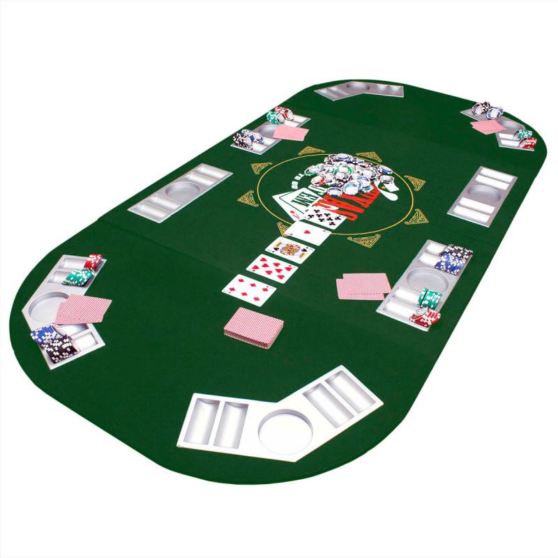 Pokertischauflage aus Filz in XXL
