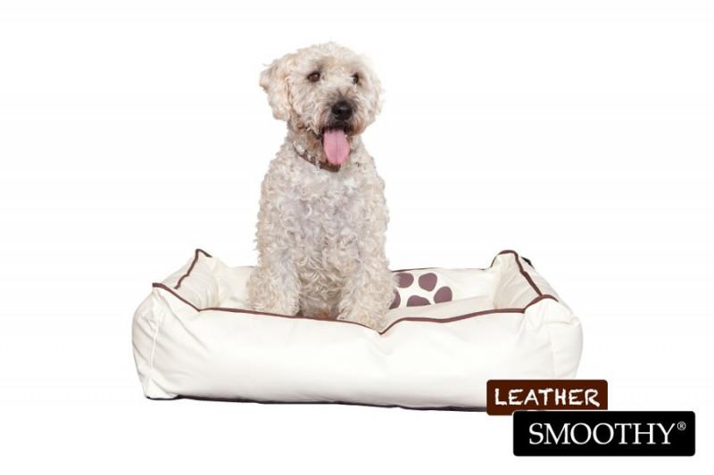 Leder-Hundekorb beige