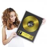 Goldene Schallplatte - Geschenk Gold-Schallplatte  - Geheimshop.de