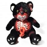 Horror Teddy - Zombie Teddybär aus Plüsch - Schwarz