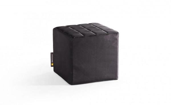 Smoothy Cube Lounge Sitzwürfel Schwarz