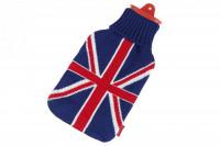 Snoozy Wärmflasche 2 Liter mit Union Jack Bezug